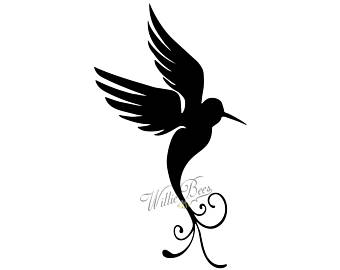 340x270 Hummingbird Silhouette Clip Art 7 Inches Png Amp Svg