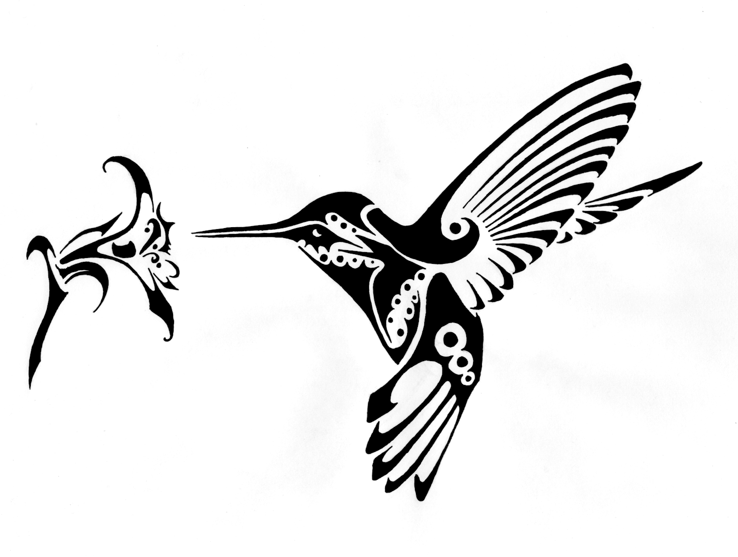 1510x1140 Clip Art Black And White Hummingbird Clipart