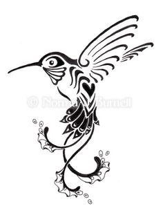 236x311 Drawn Hummingbird Abstract