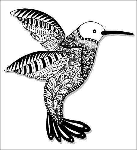 455x500 131 Best Hummingbirds Images Zentangle, Art