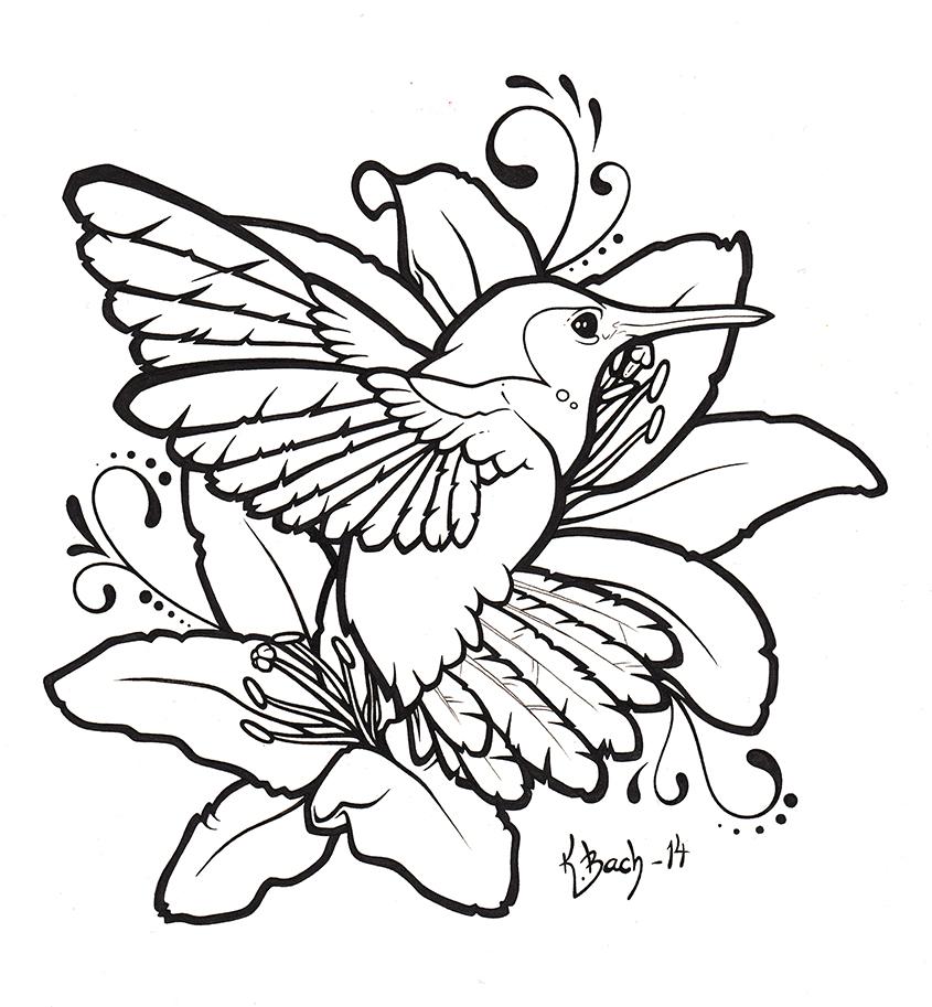 845x913 Hummingbird And Lilies