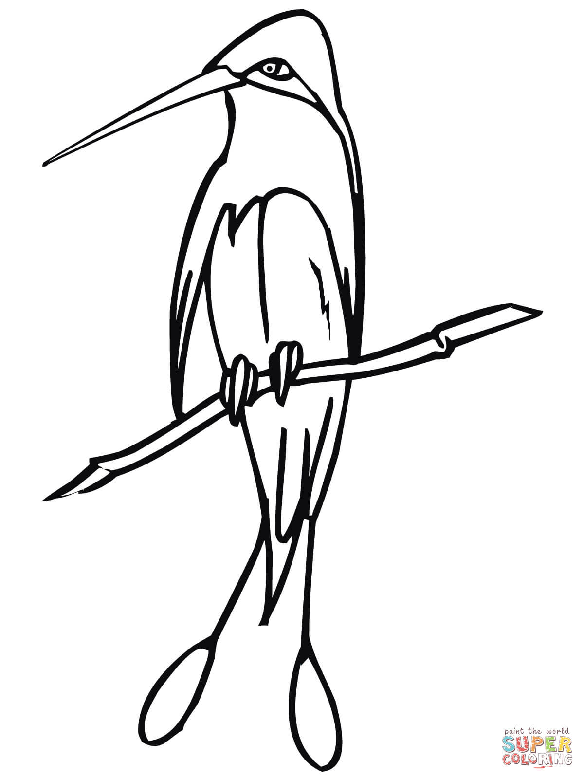 1200x1600 Marvellous Spatuletail Hummingbird Coloring Page Free Printable