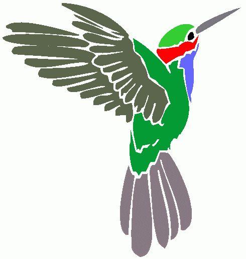 490x515 Hummingbird Clip Art