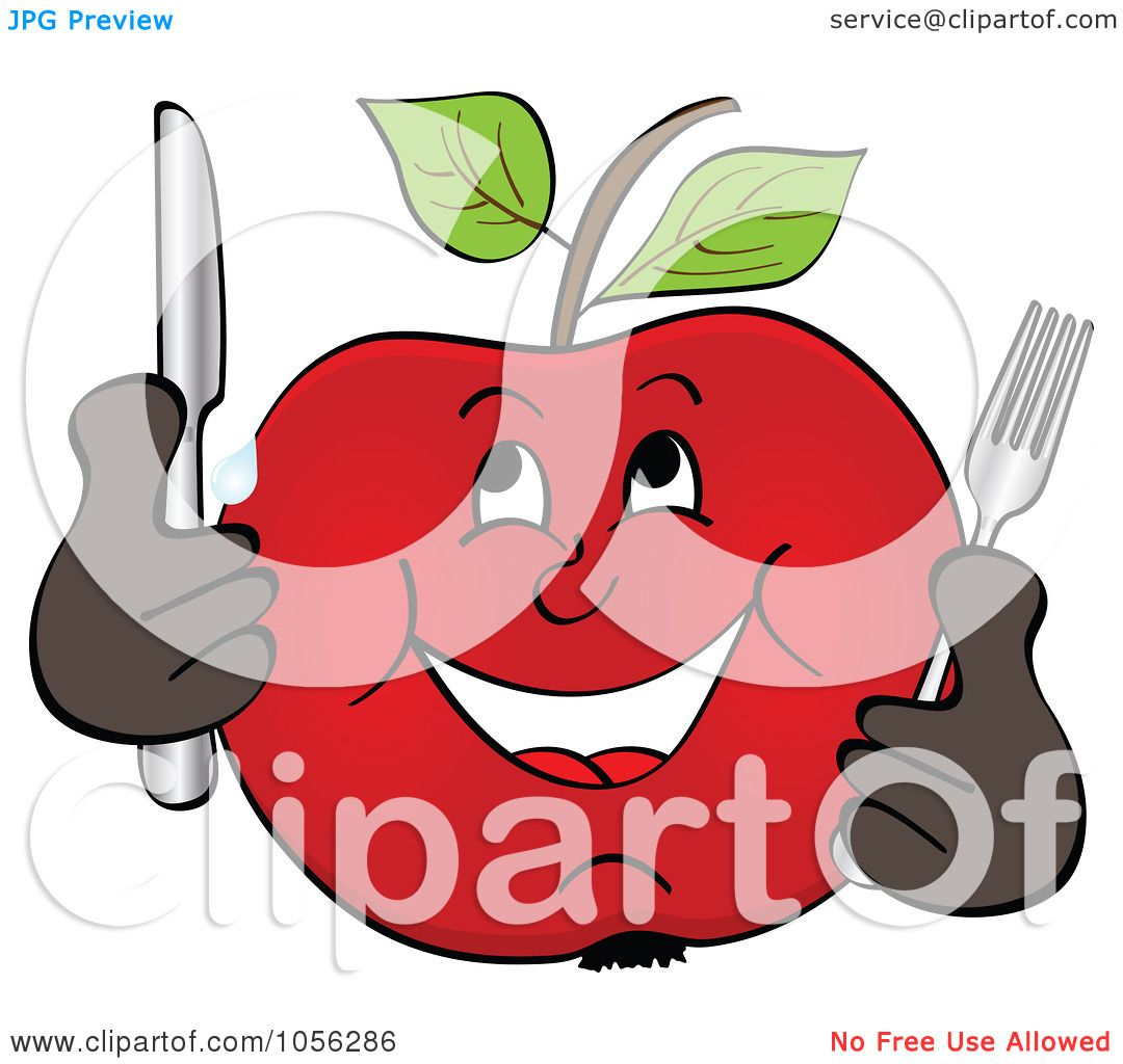 1080x1024 Royalty Free Vector Clip Art Illustration Of A Hungry Apple