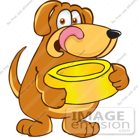 450x450 Clip Art Graphic Of A Hungry Brown Hound Dog Cartoon Character