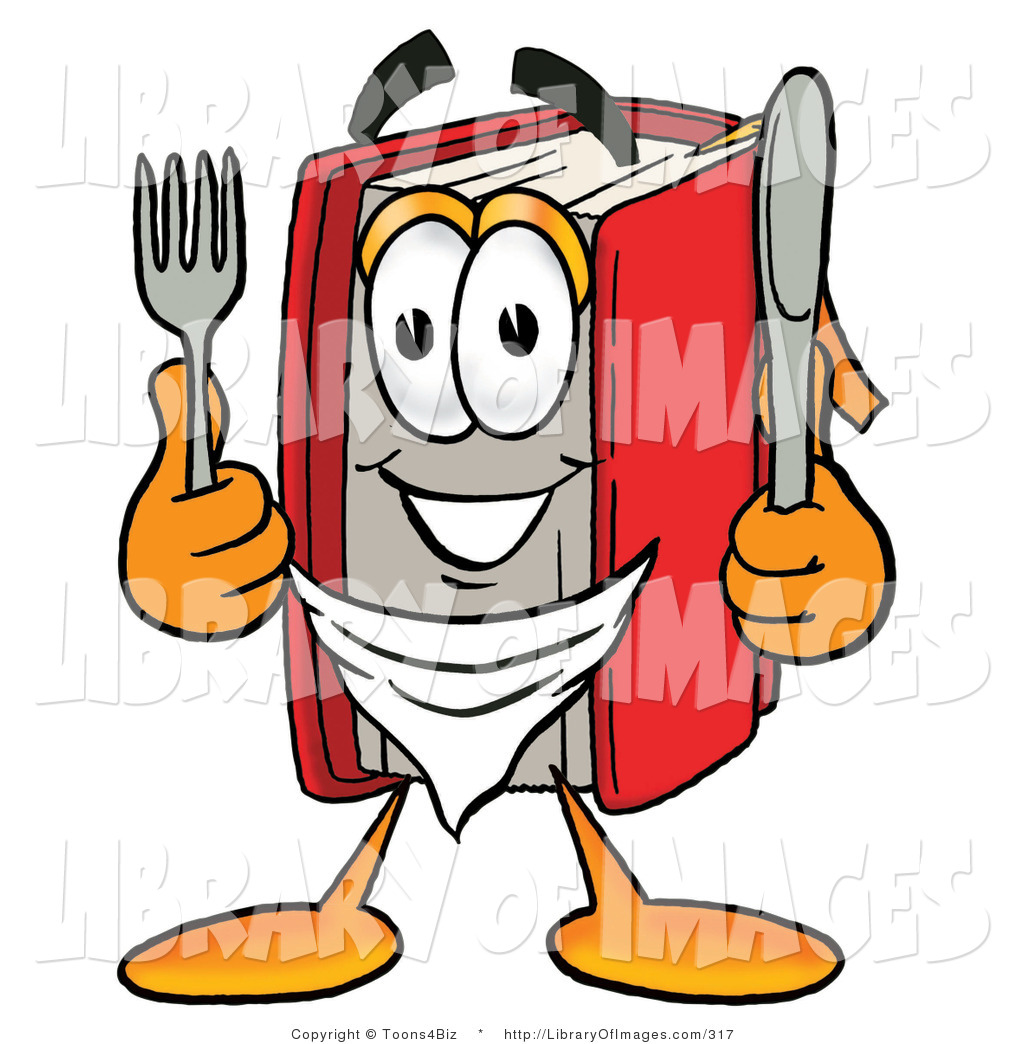 1024x1044 Cliprt Of Hungry Red Book Mascot Cartoon Character Holding
