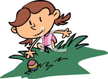 350x258 Royalty Free Clip Art Image Girl Reaching For An Easter Egg
