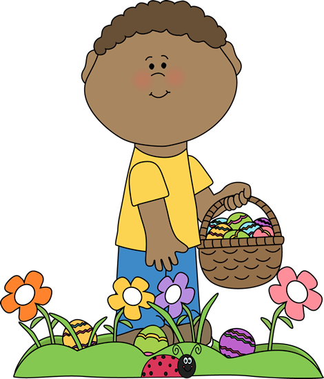 470x550 Boy On Easter Egg Hunt Clip Art