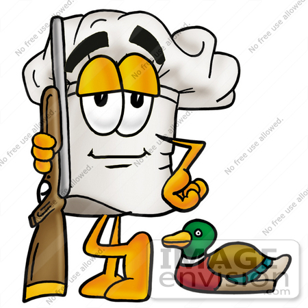 450x450 Clip Art Graphic Of A White Chefs Hat Cartoon Character Duck