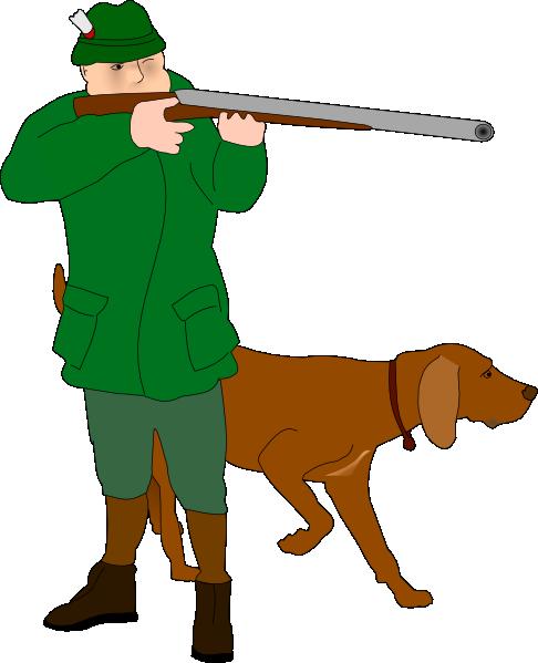 486x599 Hunter With Dog Clip Art