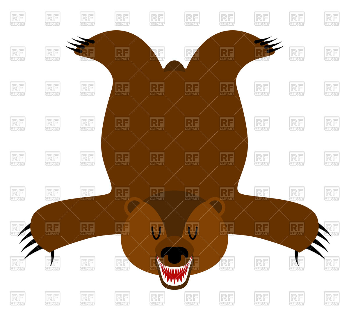 1200x1098 Grizzly Bearskin, Skin Of Bear, Hunter Trophy Royalty Free Vector
