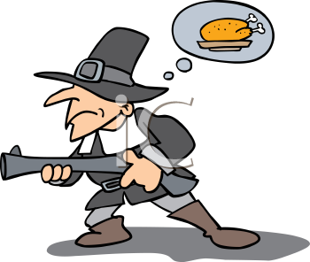 350x296 Pilgrim Clipart Hunting