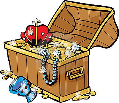 400x347 Map Clipart Treasure Hunt