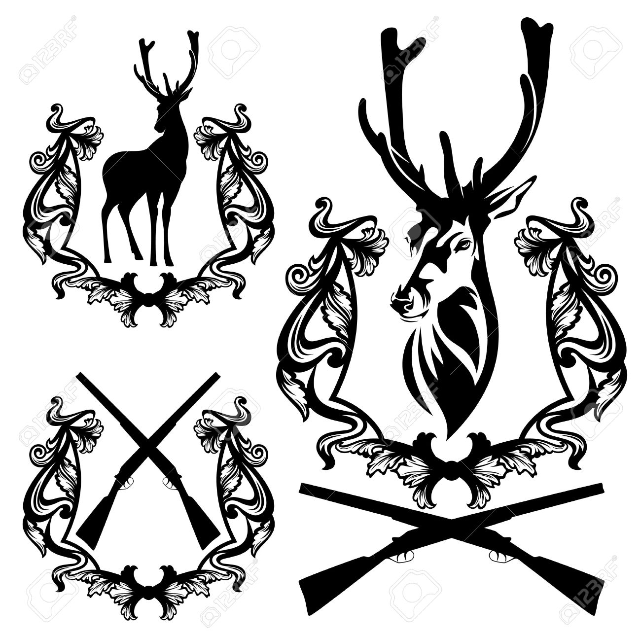 1300x1288 Free Clipart Images Deer Hunter In Tree