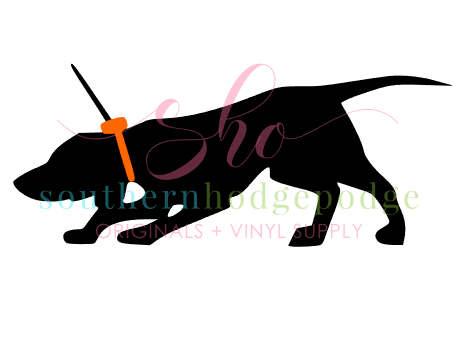 461x341 Hunting Dog With Orange Tracking Collar Svg Design Svg File