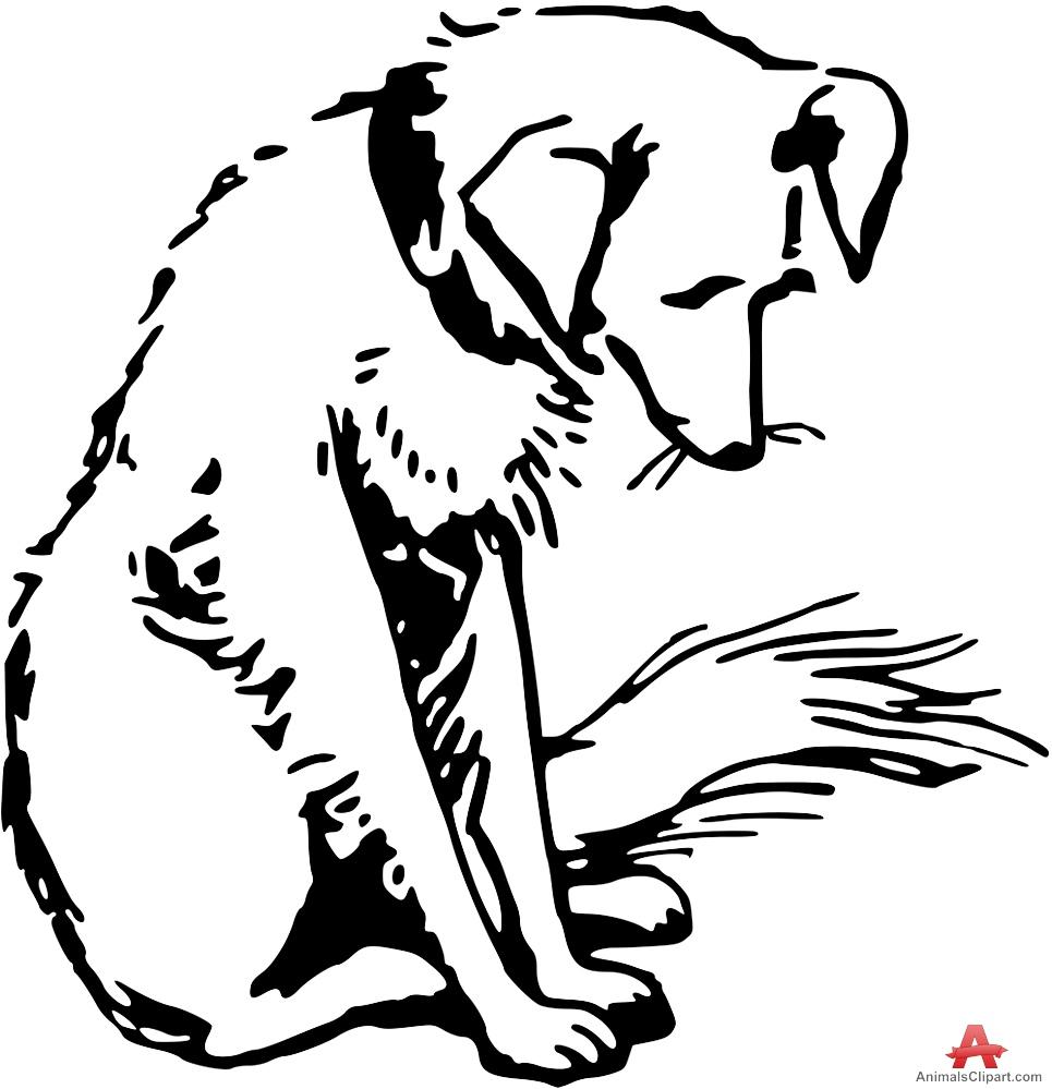 965x999 Sad Dog Outline Vector Clipart Free Clipart Design Download