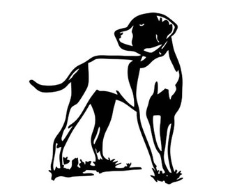340x270 Hunting Dog Decal Stencil Svg Dxf File Instant Download Silhouette