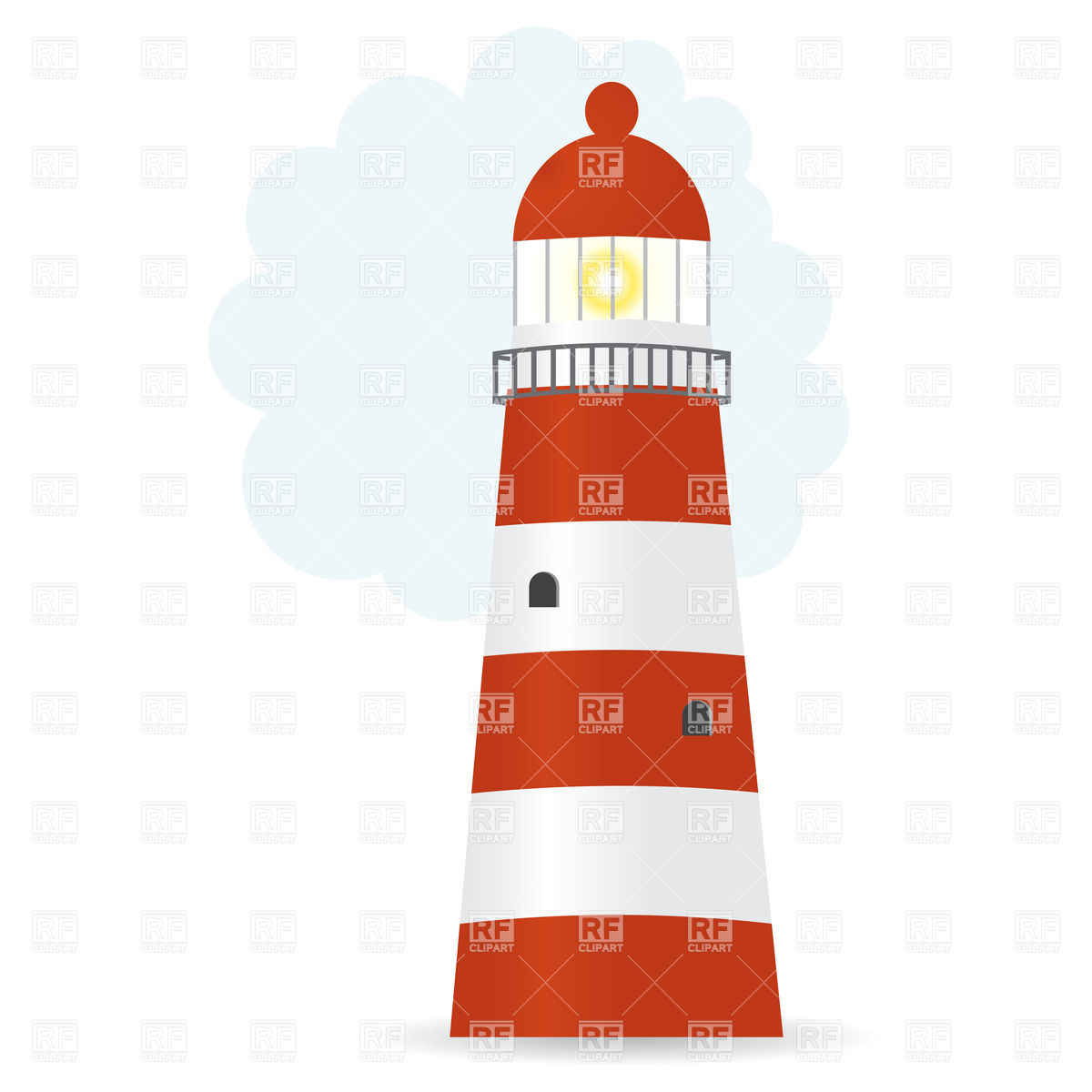 1200x1200 Lighthouse In Storm Against The Big Wave Royalty Free Vector Clip