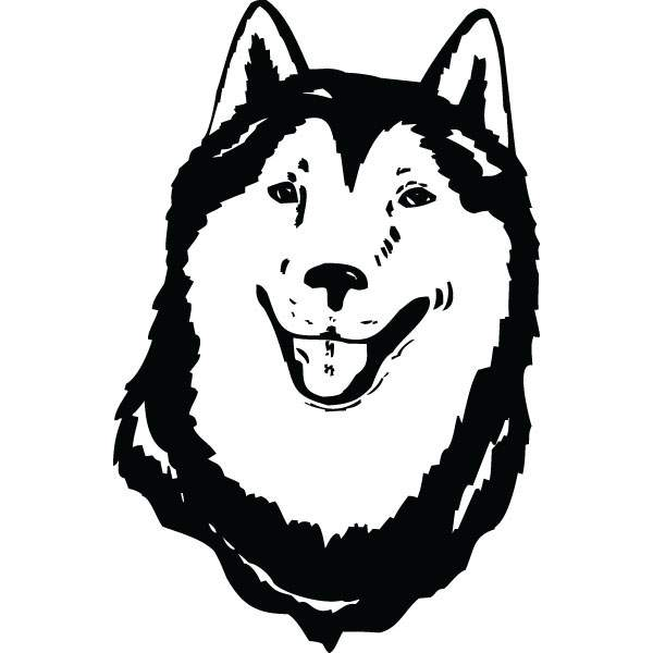 600x600 Husky Face Dog Breed Clip Art For Custom Pet Lovers Gifts