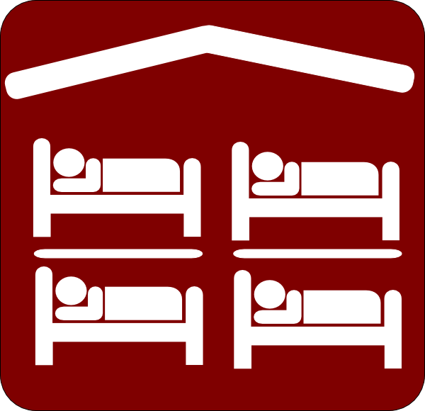600x580 Hut Hostel Cheap Inexpensive Sleeping Accomodation Clip Art