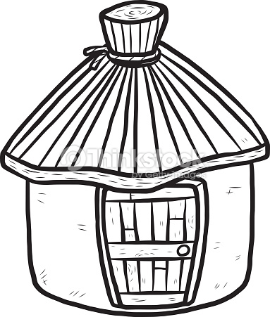383x451 Hut Clip Art Black And White Clipart