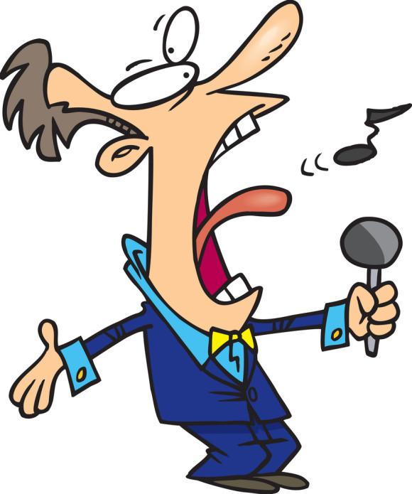 580x695 Singer Clipart Bad Singing