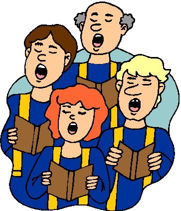363x422 Choir Singing Clipart