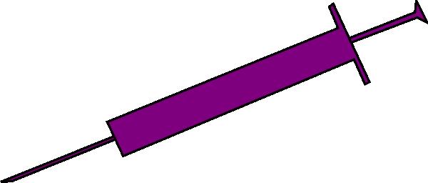 600x256 Purple Syringe Clipart