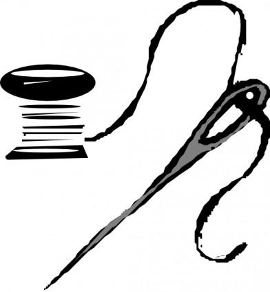 392x425 Thread And Needle Clip Art Vector Clip Art Free Vector Free Download