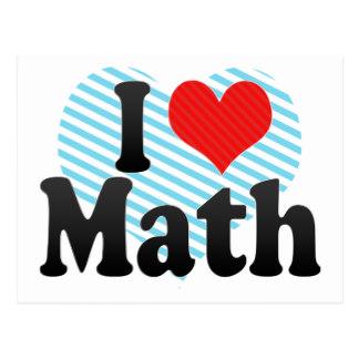 324x324 I Love Heart Maths Postcards Zazzle