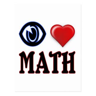 324x324 I Love Math Postcards Zazzle