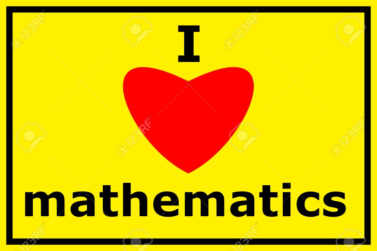 1300x866 I Love Math Showing Shool Education Or Mathematics Concept Stock