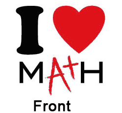 249x232 I Love Math Apparel By My Smart Printing
