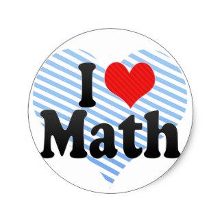 324x324 I Love Maths Stickers Zazzle.co.uk