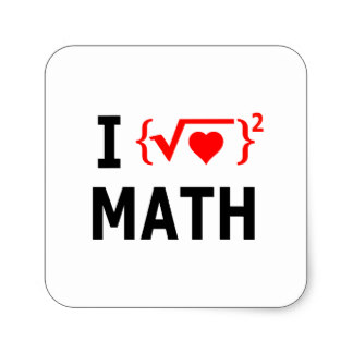 324x324 Custom I Love Maths Stickers Zazzle.ca