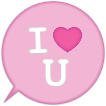 340x339 I Love You Button Clip Art