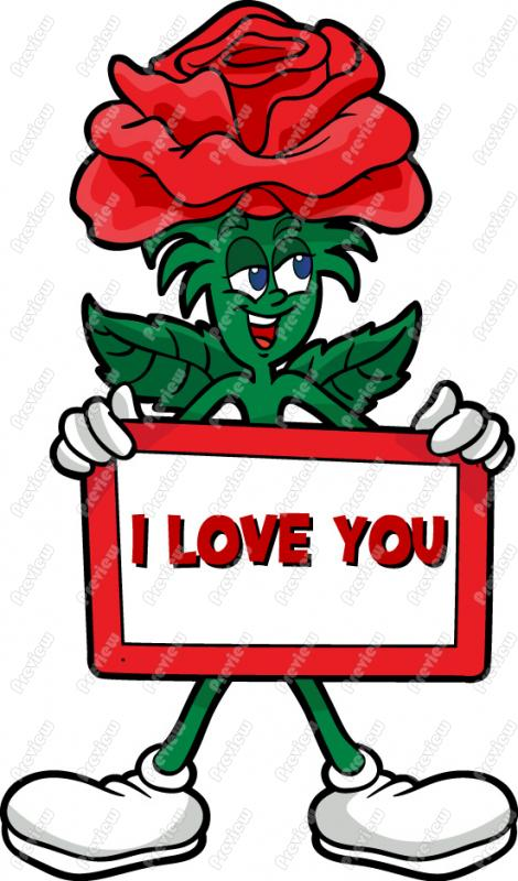 470x800 Rose Saying I Love You Clip Art