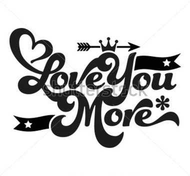 380x352 I Love You More Clip Art