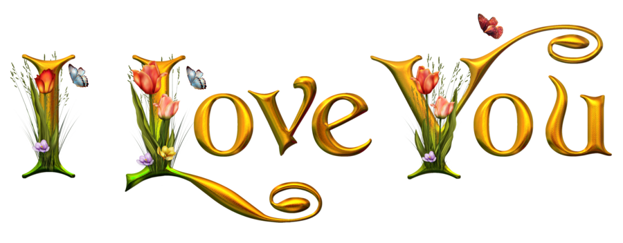 900x352 Animated Love You Clipart