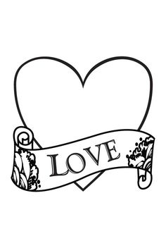 236x352 Coloring Pages That Say I Love You