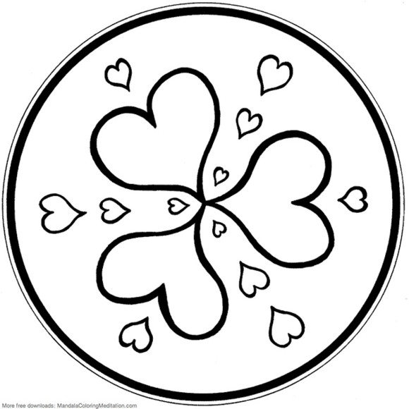 580x580 Heart Coloring Images Valentine Coloring Page Heart. I Love You