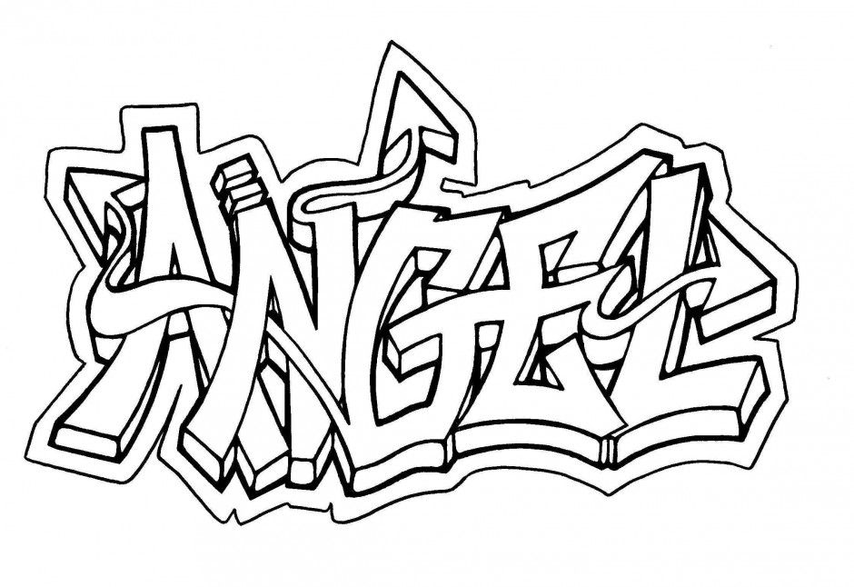 940x646 Baby Graffiti Coloring Page Art Pages 281258