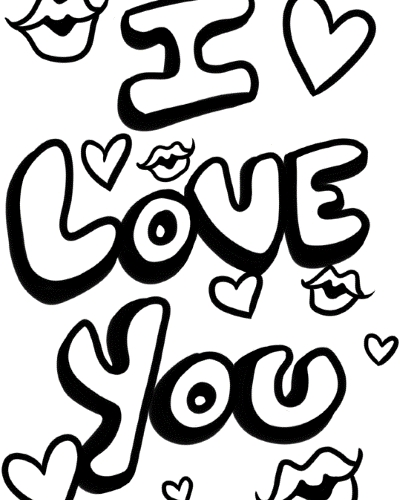 I Love You Coloring Pages Free