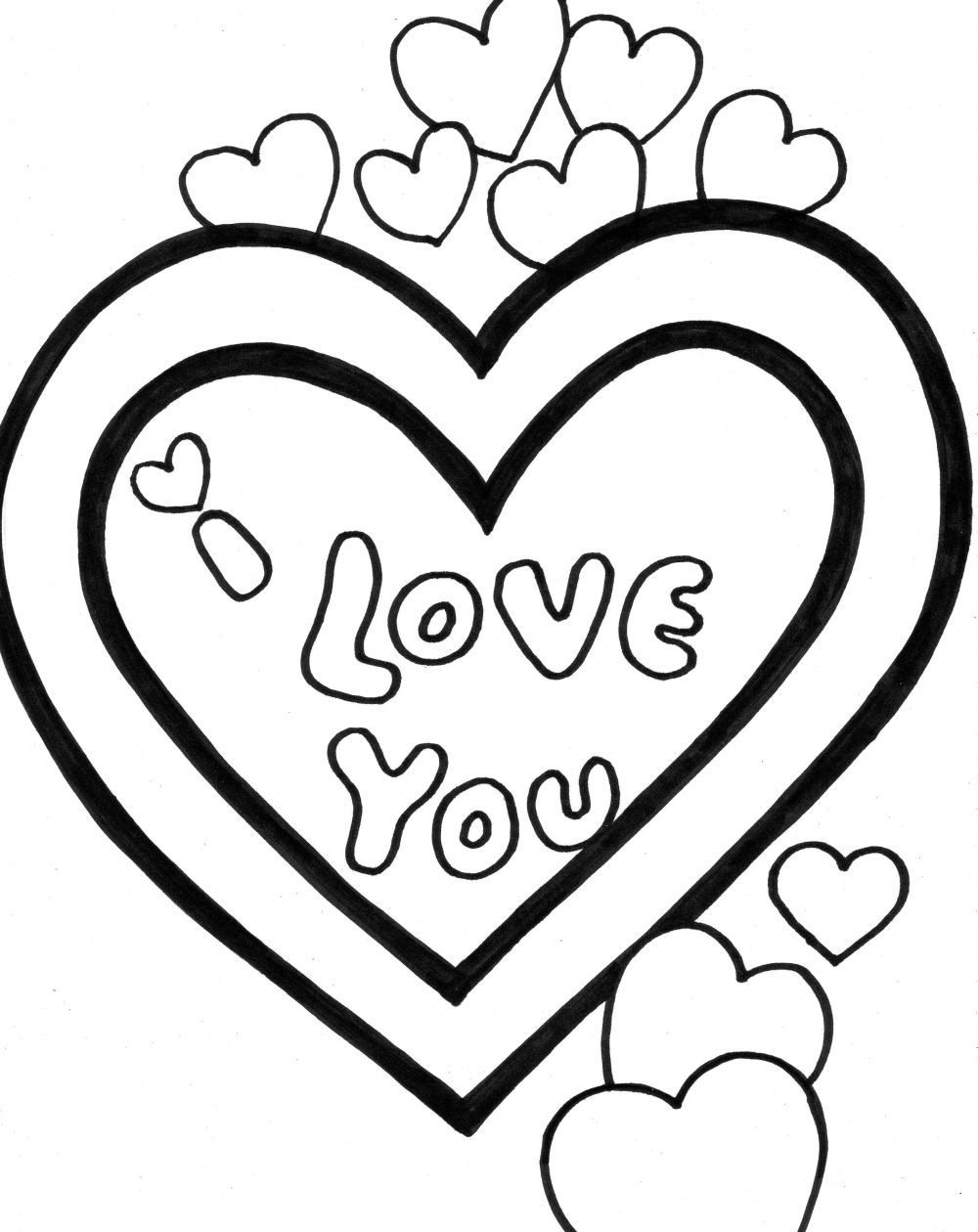 1000x1260 I Love You Valentine Coloring Pages Valentine Coloring Pages