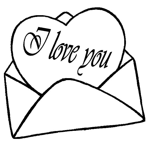 600x600 I Love You Coloring Pages Love Letter