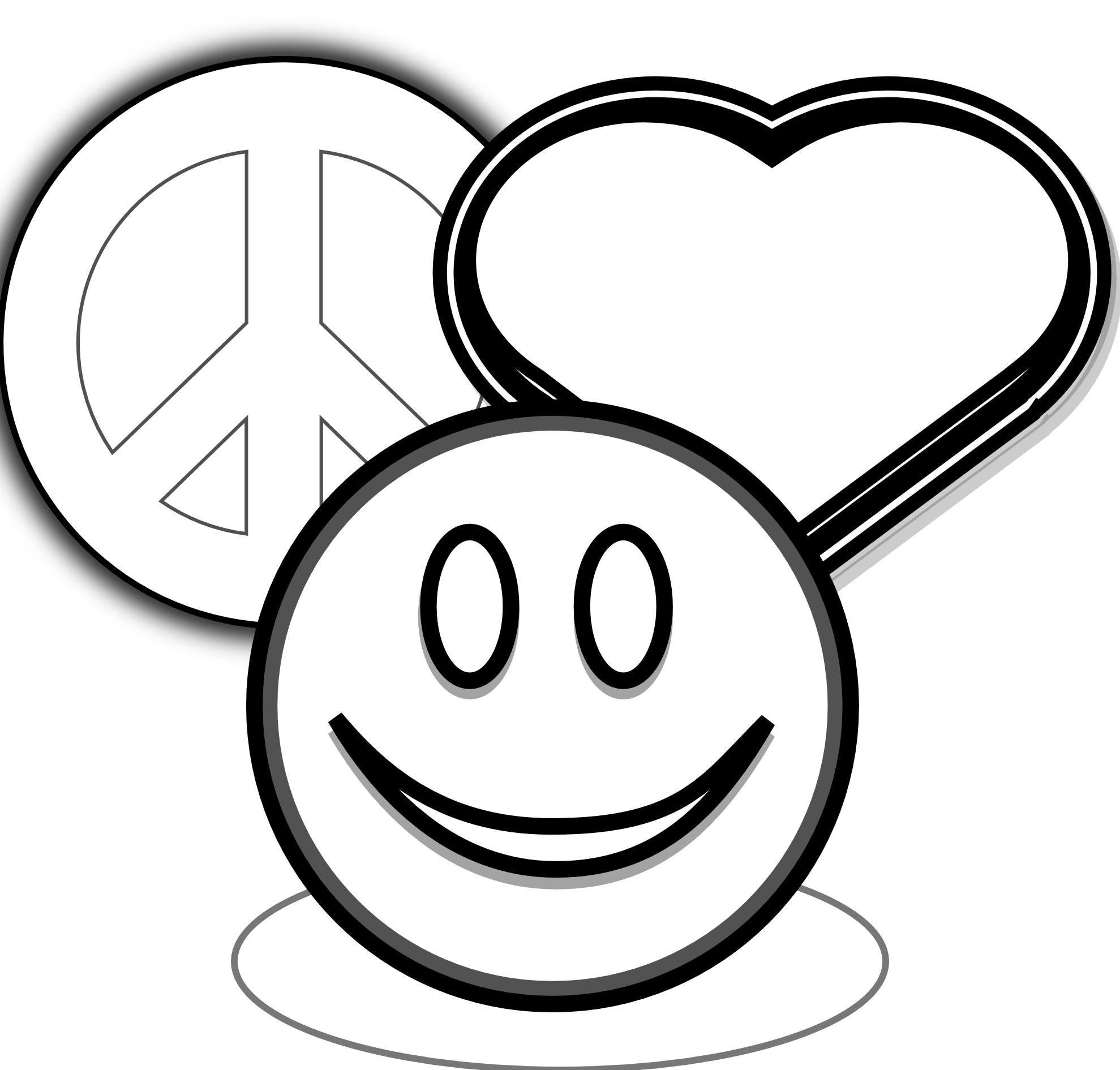 1979x1891 Peace Sign Coloring Pages