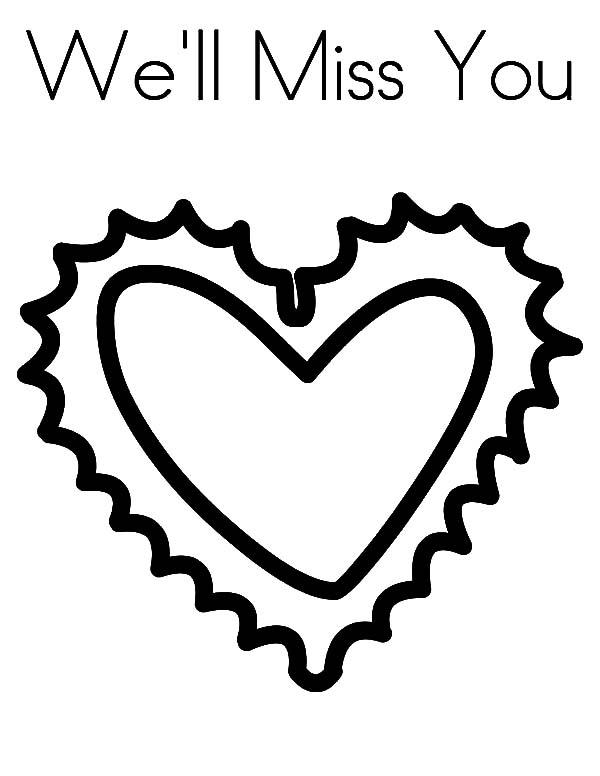 600x776 Big Heart Fro You Because I Miss You Coloring Pages Batch Coloring