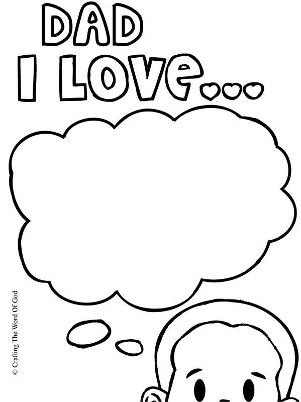 599x800 Dad I Love You Coloring Page Crafting The Word Of God