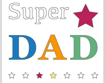 340x270 Dad Coloring Page Etsy