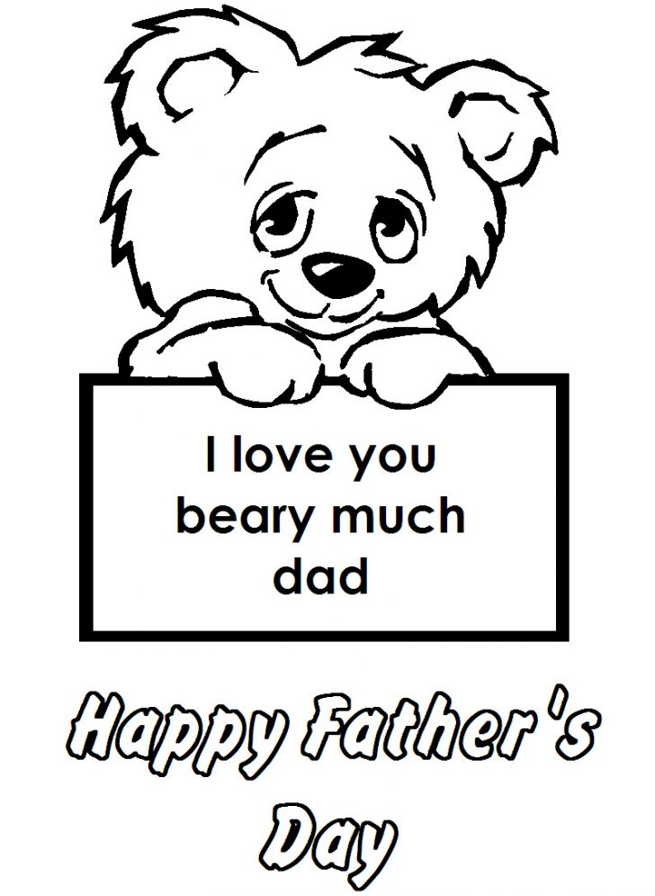 I Love You Dad Coloring Pages | Free download on ClipArtMag